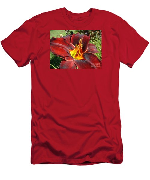 Men's T-Shirt (Slim Fit) featuring the photograph Bleeding Beauty by Mark Robbins