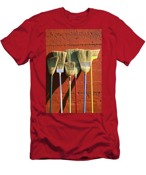 Brooms Leaning Against Wall Men's T-Shirt (Athletic Fit)