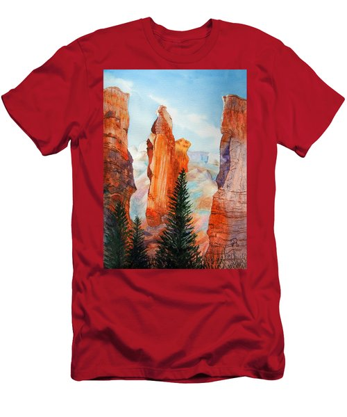 Bryce Canyon Spires Men's T-Shirt (Athletic Fit)