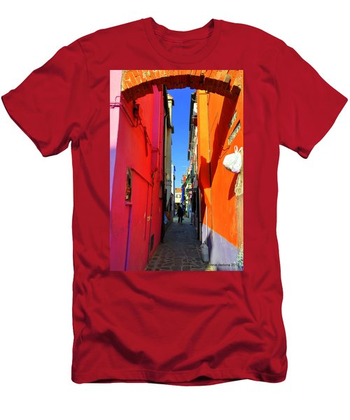 Burano Alley Men's T-Shirt (Athletic Fit)