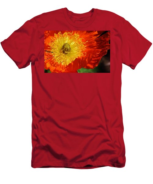 Bursting Peony Men's T-Shirt (Athletic Fit)