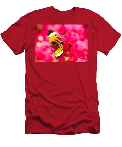 Men's T-Shirt (Slim Fit) featuring the photograph Butterfly by Les Palenik