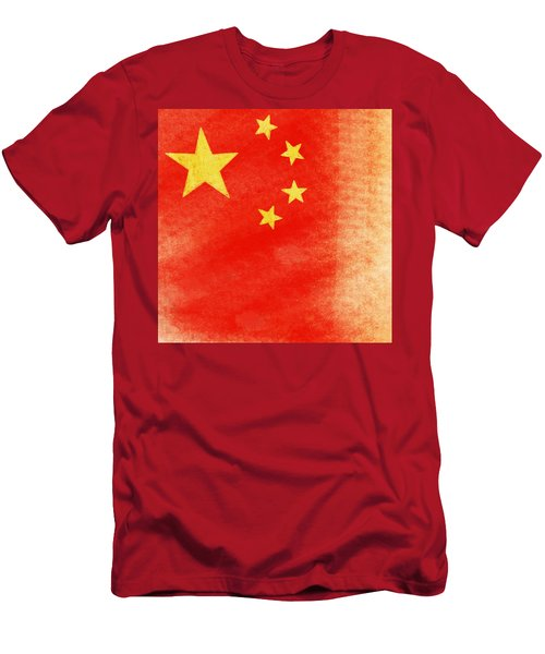 China Flag Men's T-Shirt (Athletic Fit)