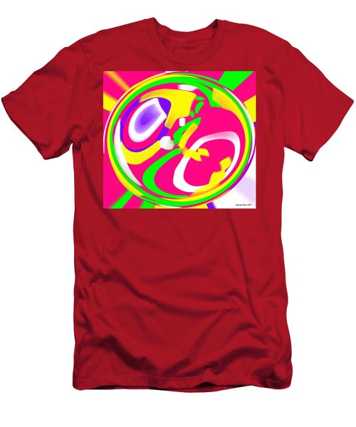 Men's T-Shirt (Slim Fit) featuring the digital art Color Roundup by George Pedro