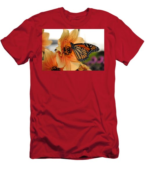 Men's T-Shirt (Slim Fit) featuring the photograph Colors In Sync by Michael Frank Jr
