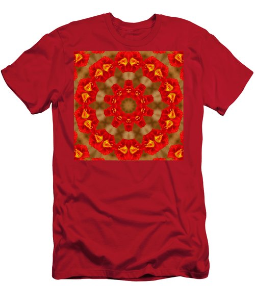 Men's T-Shirt (Slim Fit) featuring the photograph Day Lily Kaleidoscope by Bill Barber