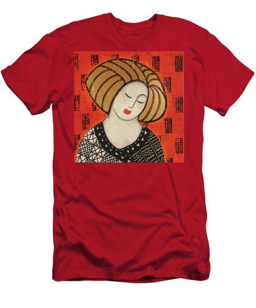 Men's T-Shirt (Slim Fit) featuring the mixed media Deeper Still by Gloria Rothrock