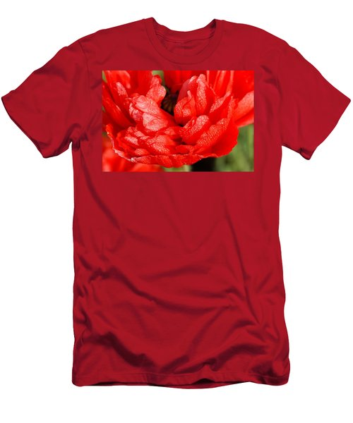 Men's T-Shirt (Slim Fit) featuring the photograph Dewdrops by Fotosas Photography