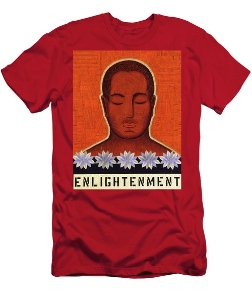 Men's T-Shirt (Slim Fit) featuring the mixed media Enlightenment by Gloria Rothrock