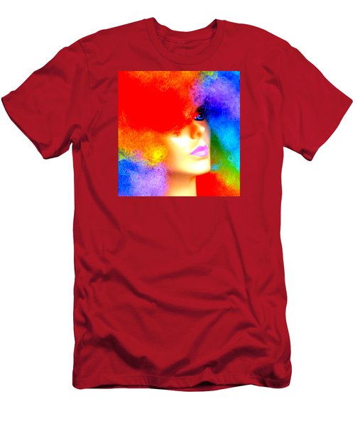 Men's T-Shirt (Slim Fit) featuring the photograph Eye Of The Rainbow by John King