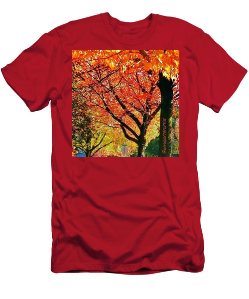 Fall Color Nw Lovejoy And 22nd Street Men's T-Shirt (Athletic Fit)