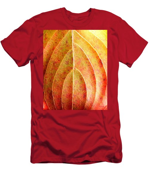 Fall Leaf Upclose Men's T-Shirt (Athletic Fit)
