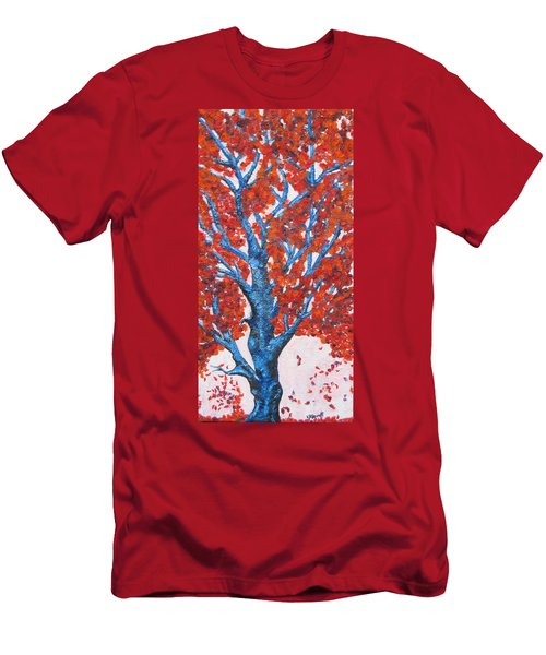 Fall Tree  Men's T-Shirt (Athletic Fit)