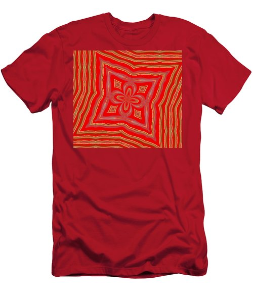 Men's T-Shirt (Slim Fit) featuring the digital art Favorite Red Pillow by Alec Drake