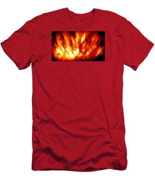 Fire In The Starry Sky Men's T-Shirt (Slim Fit) by Paul  Wilford