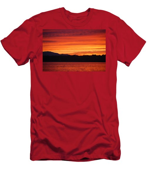 Fire Sky Men's T-Shirt (Athletic Fit)