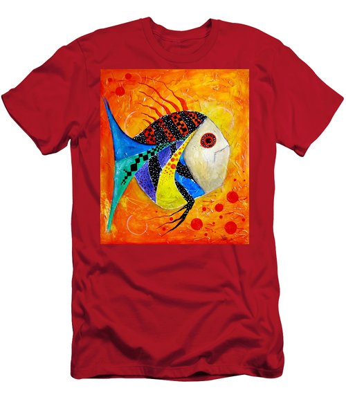 Fish Splatter II Men's T-Shirt (Athletic Fit)