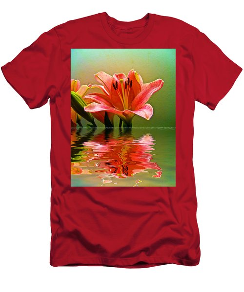 Flooded Lily Men's T-Shirt (Slim Fit) by Bill Barber