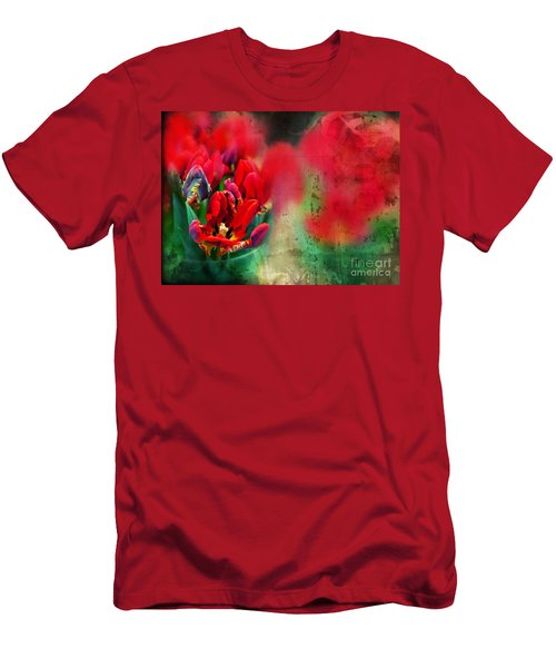 Men's T-Shirt (Athletic Fit) featuring the photograph Flowers by Ariadna De Raadt