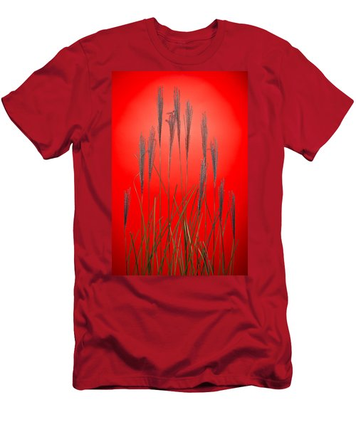 Fountain Grass In Red Men's T-Shirt (Athletic Fit)