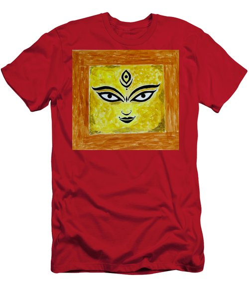 Men's T-Shirt (Slim Fit) featuring the painting Goddess Kali by Sonali Gangane