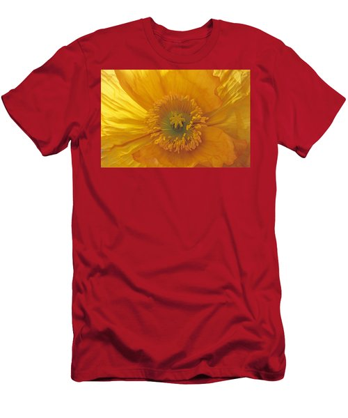 Iceland Poppy 4 Men's T-Shirt (Athletic Fit)