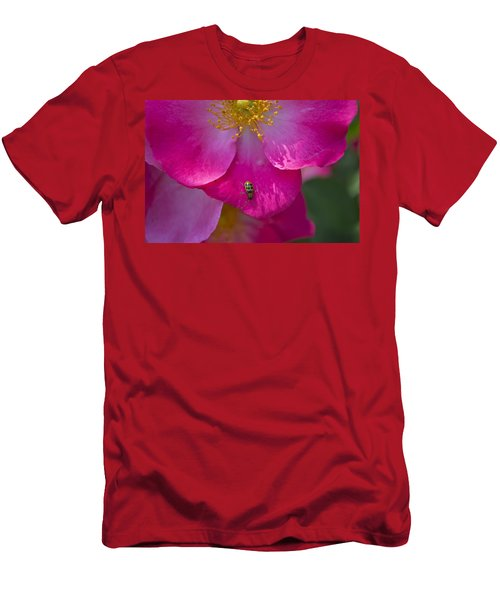 Magenta Men's T-Shirt (Athletic Fit)