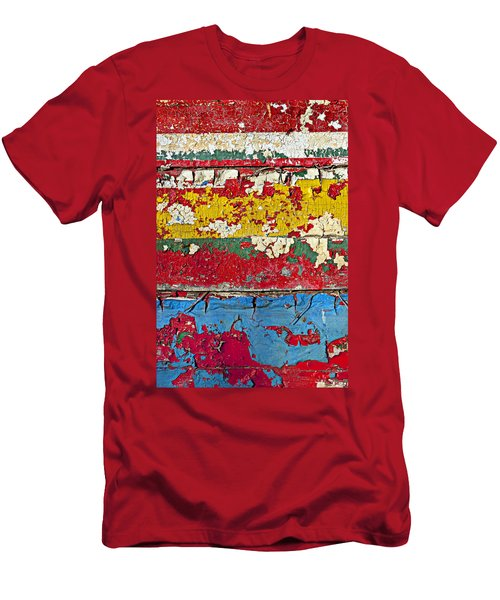 Painting Peeling Wall Men's T-Shirt (Athletic Fit)