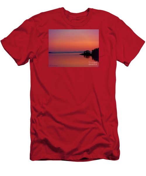 Pink Morn At Rock Point Men's T-Shirt (Athletic Fit)