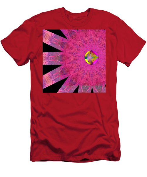 Men's T-Shirt (Slim Fit) featuring the digital art Pink Ribbon Of Hope by Alec Drake