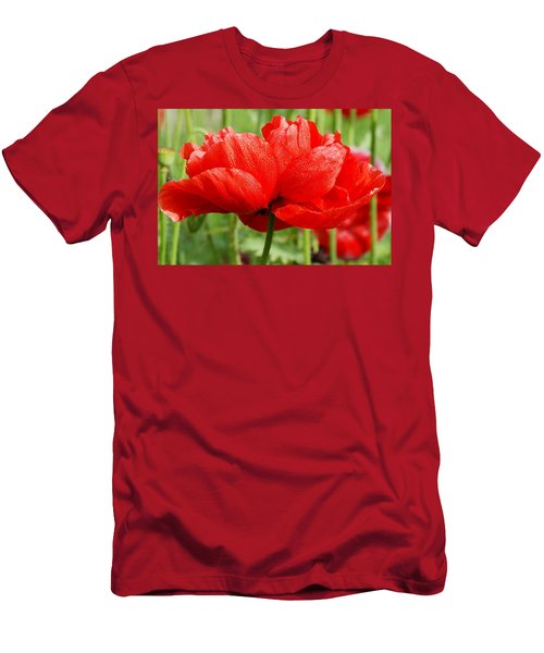 Men's T-Shirt (Slim Fit) featuring the photograph Red And Green by Fotosas Photography