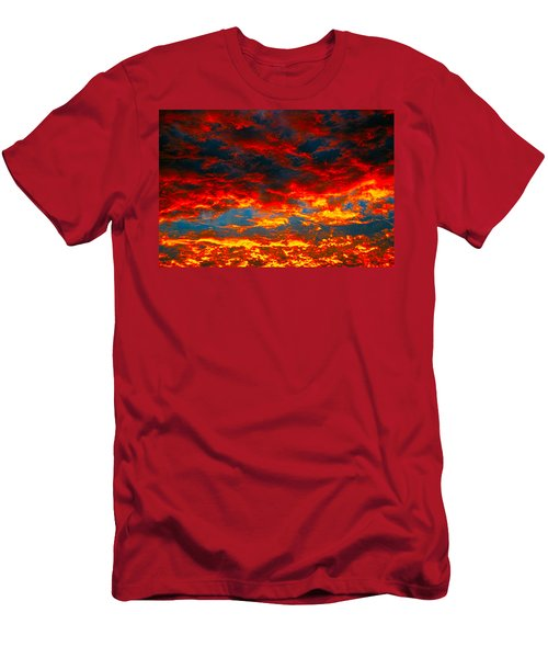 Red Clouds Men's T-Shirt (Athletic Fit)