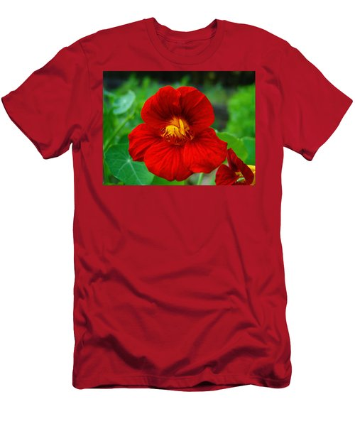 Red Daylily Men's T-Shirt (Slim Fit) by Bill Barber