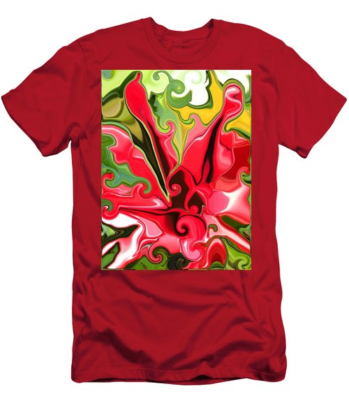 Red Fantasy Lily Men's T-Shirt (Athletic Fit)