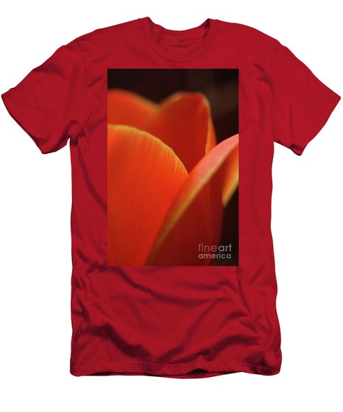 Red Tulip Men's T-Shirt (Slim Fit) by Jeannette Hunt