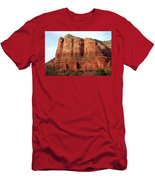 Sedona Red Men's T-Shirt (Slim Fit) by Debbie Hart