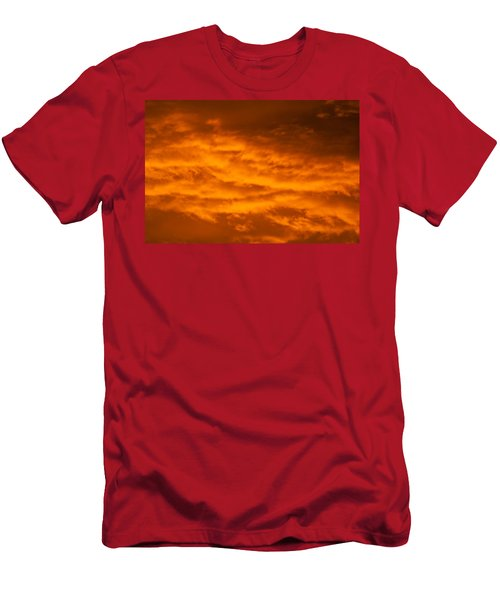 Sky Of Fire Men's T-Shirt (Slim Fit) by Colleen Coccia