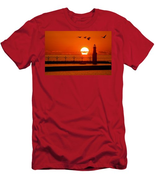 Summer Escape Men's T-Shirt (Athletic Fit)