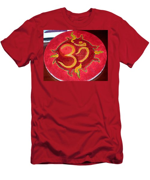 Men's T-Shirt (Slim Fit) featuring the painting The Omnipotent Aumkar by Sonali Gangane