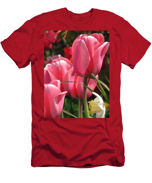 There Is Pink In Heaven Men's T-Shirt (Slim Fit) by Rory Sagner