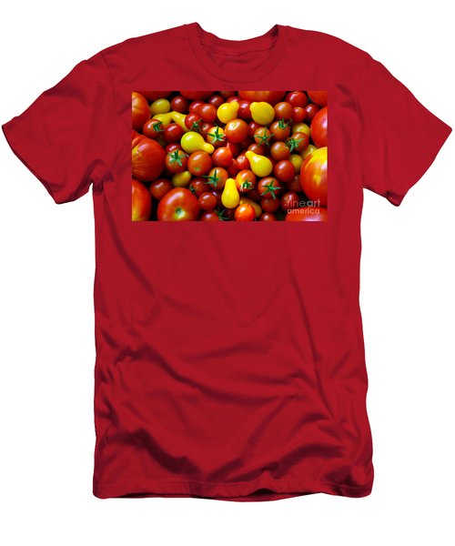 Tomatoes Background Men's T-Shirt (Athletic Fit)