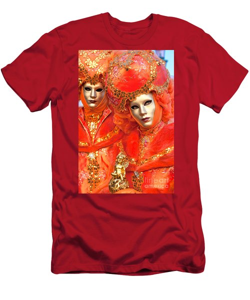 Men's T-Shirt (Slim Fit) featuring the photograph Venice Masks by Luciano Mortula