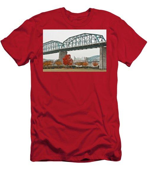 Walnut Street Bridge Men's T-Shirt (Athletic Fit)