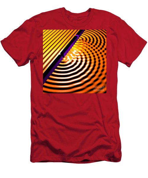 Waves Two Slit 2 Men's T-Shirt (Athletic Fit)