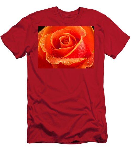 Wet Rose Men's T-Shirt (Athletic Fit)