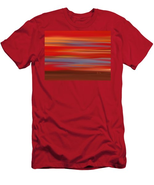 Men's T-Shirt (Slim Fit) featuring the digital art  Evening In Ottawa Valley by Rabi Khan