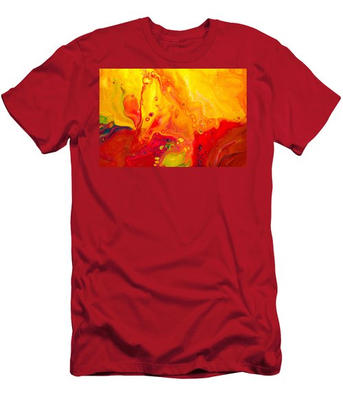 Melancholy - Abstract Warm Mixed Media Painting Men's T-Shirt (Athletic Fit)