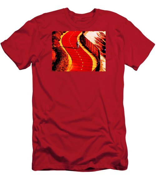 Red Path  Men's T-Shirt (Athletic Fit)