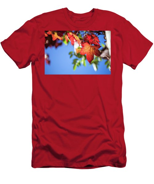 Men's T-Shirt (Athletic Fit) featuring the photograph Autumn Leaves  by Jingjits Photography