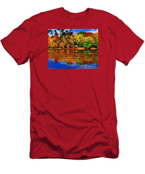 Autumn Serenity Painted Men's T-Shirt (Slim Fit) by Diane E Berry